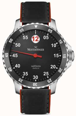 MeisterSinger Men's Classic Plus Salthora Meta X Automatic Black Red SAMX902