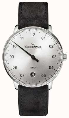 MeisterSinger Mens Form And Style Neo Automatic Sunburst Silver NE901N