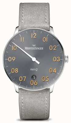 MeisterSinger Men's Form And Style Neo Q Quartz Sunburst Medium Grey NQ907GN