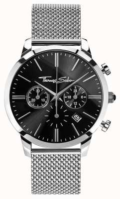 Thomas Sabo Men's Eternal Rebel Stainless Steel Mesh Chronograph WA0245-201-203-42