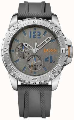 Hugo Boss Orange Mens Reykjavik Grey Rubber Strap 1513412