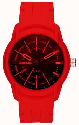 Diesel Mens Armbar Red Silicone Strap DZ1820