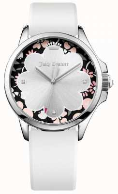 Juicy Couture Womans Jetsetter White Silicone Strap 1901568