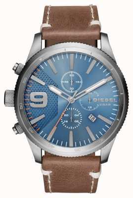Diesel Gents Rasp Chrono Brown Leather Watch DZ4443