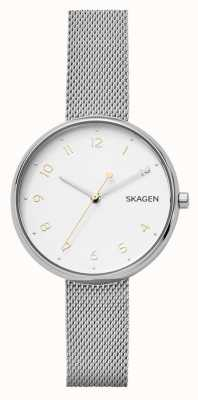 Skagen Womans Signature Silver Stainless Steel Mesh Bracelet SKW2623