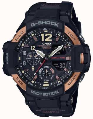 Casio Mens G-Shock Aviator Gravity Master Watch GA-1100RG-1ADR GA-1100RG-1AER