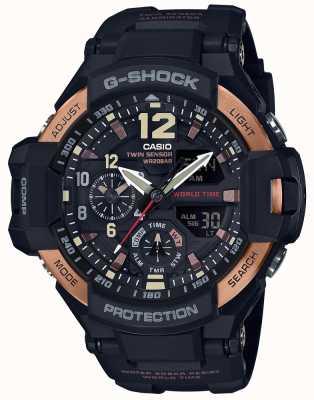 Casio Mens G-Shock Aviator Gravity Master Watch GA-1100RG-1ADR GA-1100RG-1AER
