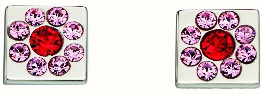 Orla Kiely Womans Sterling Silver Cube Flower Stud Earrings E5224