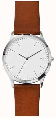 Skagen Mens Jorn Light Brown Leather Strap SKW6331