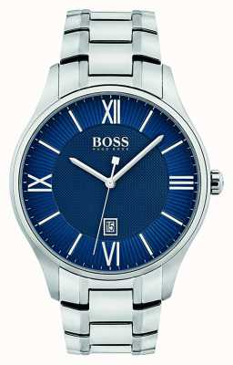 Hugo Boss Mens Governor Classic Blue Dial Watch 1513487