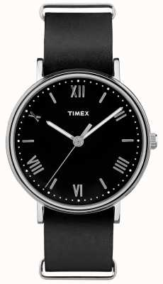 Timex Mens Southview 41mm Black Dial Black Strap TW2R28600