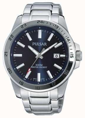 Pulsar Mens Stainless Steel Bracelet Blue Dial PS9331X1