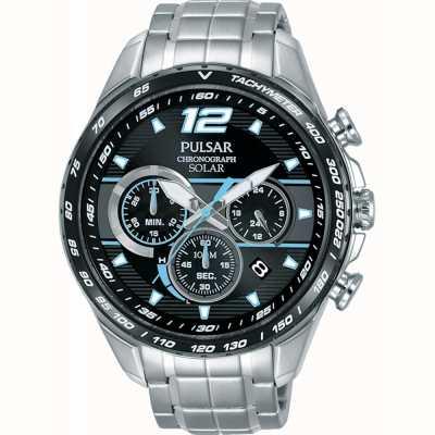 Pulsar Men's Solar Accelerator Chronograph Wristwatch PZ5031X1