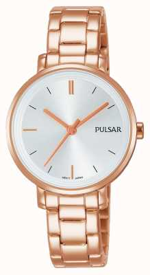 Pulsar Womans Rose Gold Plated Stainless Steel Bracelet PH8340X1