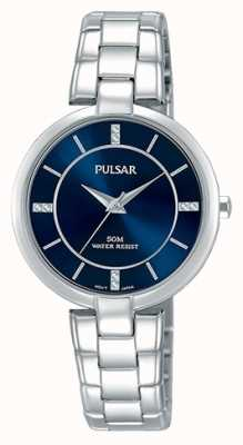 Pulsar Womans Stainless Steel Bracelet Blue Dial PH8313X1