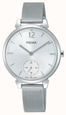 Pulsar Womans Stainless Steel Mesh Bracelet Silver Dial PN4053X1