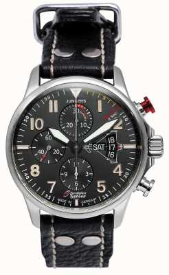 Junkers Mens Junkers 3 Eurofighter Chronograph Automatic Black 6826-5