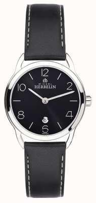 Michel Herbelin Womens Equinox Black Strap Watch 16977/14N