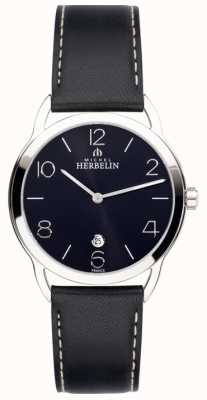 Michel Herbelin Mens Equinox Black Strap Watch 19577/14N
