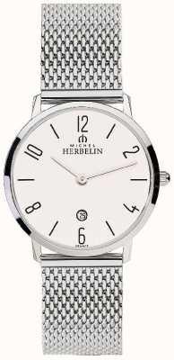 Michel Herbelin Womens City Stainless Steel Mesh Strap White Dial 16915/21B