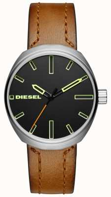 Diesel Mens Klutch Brown Leather Strap DZ1831