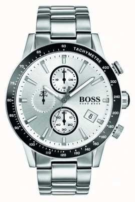 Hugo Boss Mens Rafale Chronograph White Dial 1513511