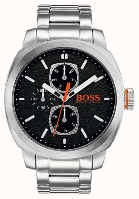 Hugo Boss Orange Mens Capetown Watch Black Dial Stainless Steel 1550029