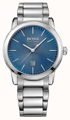 Hugo Boss Mens Classic Stainless Steel Bracelet Blue 1513402