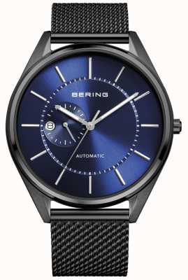 Bering Mens Automatic Milanese Black Steel Bracelet 16243-227