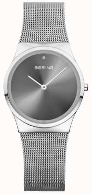 Bering Unisex Classic Sunray Dial Silver Milanese 12130-009