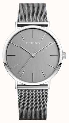 Bering Mens Classic Silver Milanese Strap 13436-309