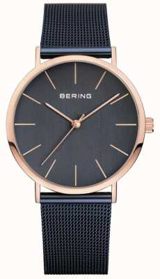Bering Mens Classic Navy Milanese Strap 13436-367