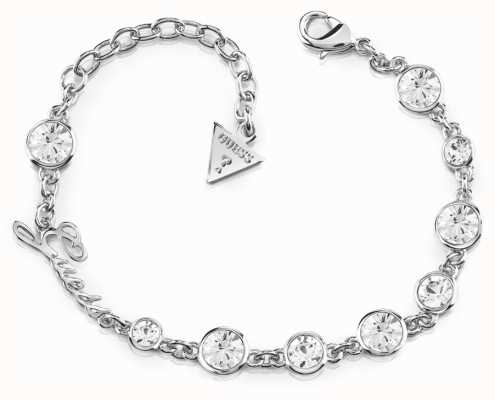 Guess Crystal Beauty Crystal Bracelet Rhodium UBB84126-L