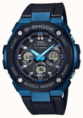 Casio Mens G-Shock G-Steel Tough Solar Watch Blue GST-W300G-1A2ER
