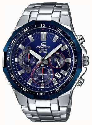 Casio Mens Edifice Blue Chronograph Watch EFR-554RR-2AVUEF