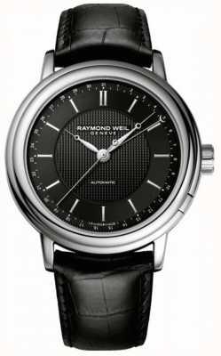 Raymond Weil Mens Maestro Automatic Black Leather 2851-STC-20001