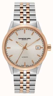 Raymond Weil Mens Freelancer Automatic Two Tone Bracelet 2740-SP5-65011