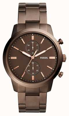 Fossil Mens Townsman Chronograph Brown FS5347