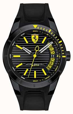 Scuderia Ferrari Men's RedRev Black Silicone Strap Watch 0830426
