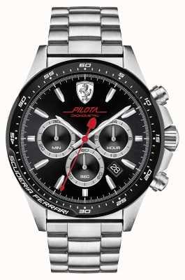 Scuderia Ferrari Pilota Stainless Steel 0830393