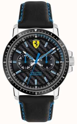 Scuderia Ferrari Turbo Black Leather Strap 0830448