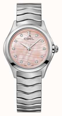 EBEL Womens Wave Diamond Set  Pink Dial Watch 1216268