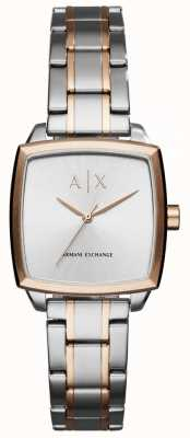 Armani Exchange Womans Two Tone Stainless Steel Bracelet AX5449