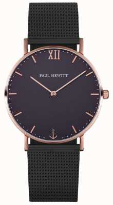 Paul Hewitt Unisex Sailor Black Mesh Bracelet PH-SA-R-ST-B-5M