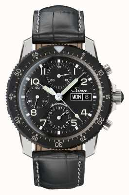 Sinn 103 St Classic Pilot Chrono Black Alligator Embossed Leather 103.035