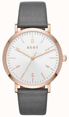 DKNY Womens Minetta Grey Leather Watch NY2652
