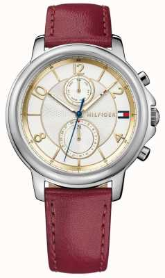Tommy Hilfiger Womens Claudia Wine Leather Watch 1781816