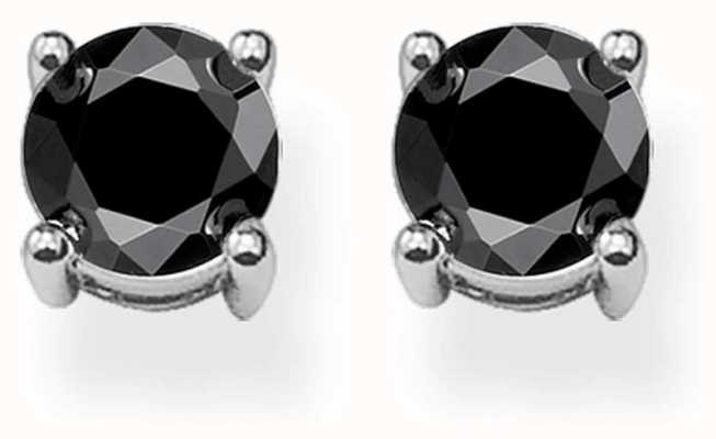 Thomas Sabo Glam & Soul Sterling Silver/zirconia Black Ear Studs H1739-051-11