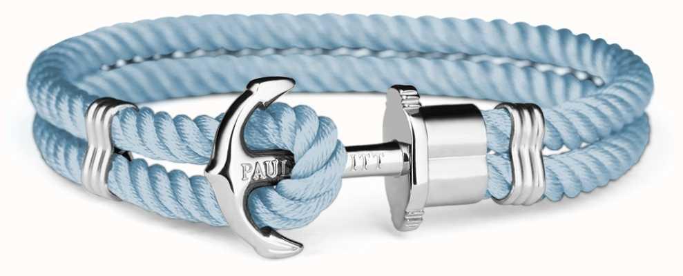 Paul Hewitt Phrep Silver Anchor Navy Nylon Bracelet PH-PH-N-S-N-M