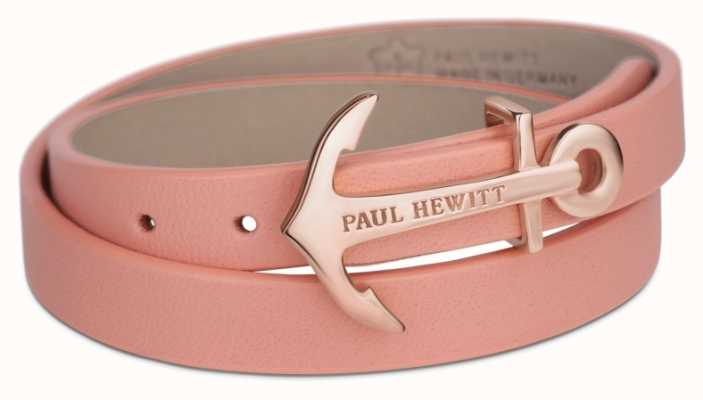 Paul Hewitt Jewellery Northbound Rose Gold Anchor Aurora Leather Bracelet Small PH-WB-R-24S